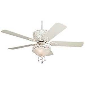 52 quot casa antique white light kit ceiling fan white antique fan