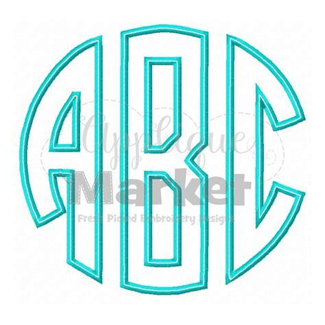 circle monogram applique