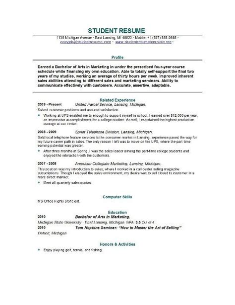 how to write resume new graduate sle resume recent college graduate best resume collection