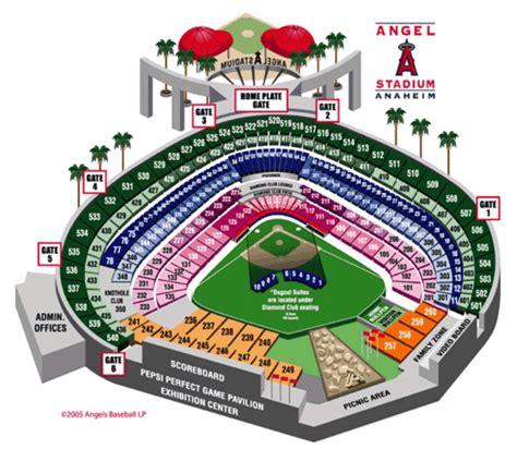 angel stadium of anaheim anaheim ca seating chart view