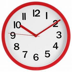 Horloge Murale Rouge : horloge murale colors 22cm rouge ~ Teatrodelosmanantiales.com Idées de Décoration