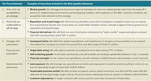 Risk Appetite Statement Examples