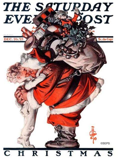 classic covers santa claus  saturday evening post