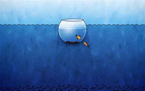 小鱼创意简约小清新桌面壁纸