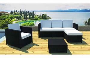 Table Basse Salon De Jardin : salon de jardin complet modulable 5 places avec table basse bandol ~ Teatrodelosmanantiales.com Idées de Décoration