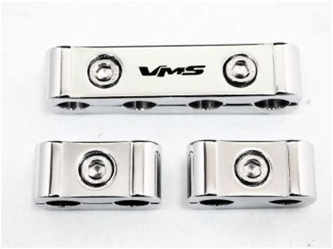12pc billet aluminum spark wire separators divider car truck chrome plated ebay