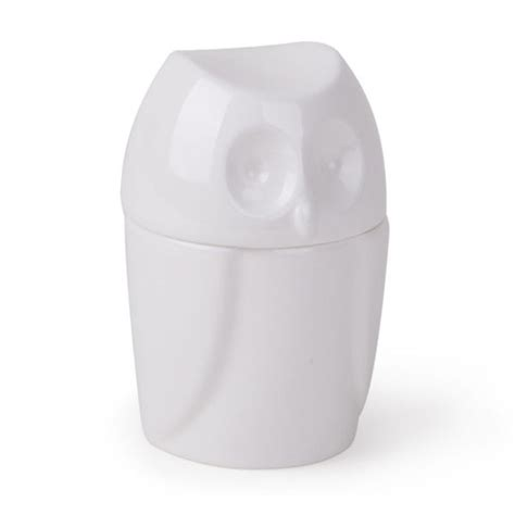 White Owl Bathroom Accessories by Umbra Foresta Owl Ceramic Canister White 020214 660