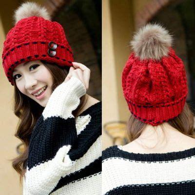 topi import stock pink topi rajut musim dingin wanita 4 color winter hats