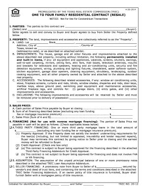 texas real estate forms fillable trec no 20 12 fill online printable fillable blank