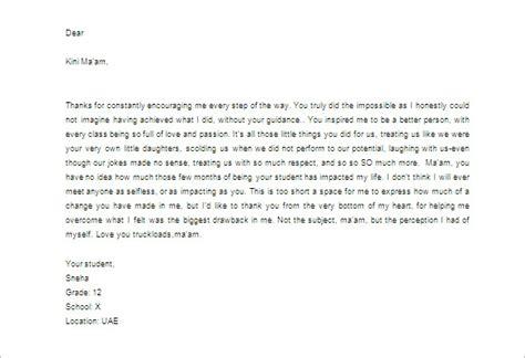 letter  teacher