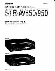 Sony Str-av850