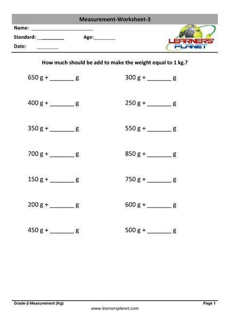 printable worksheets quiz video tutorials  measuring