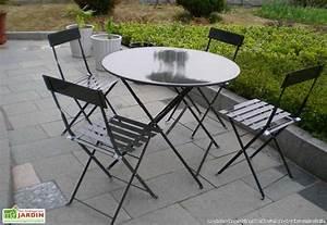 Salon De Jardin Metal : best table de jardin ronde metallique photos amazing ~ Dailycaller-alerts.com Idées de Décoration
