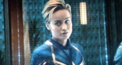 Avengers Endgame Captain Marvel Short Hair Look Was
