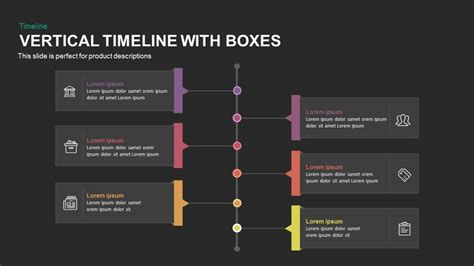 vertical timeline  boxes powerpoint  keynote