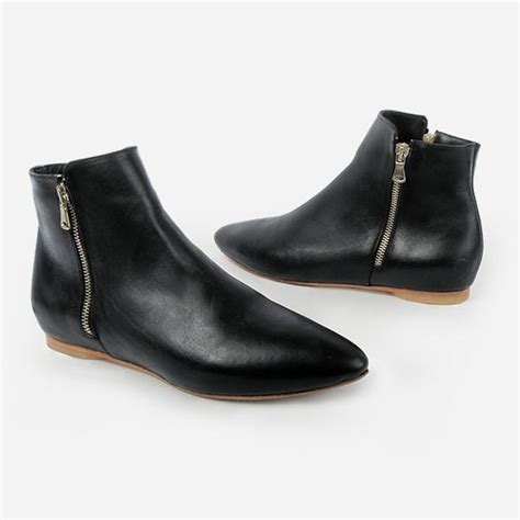 flat black ankle boots  women  boots