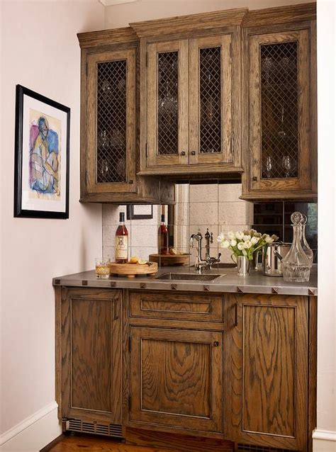 Bar Furniture With Sink by Gray Bar Cabinets With Gold Pulls Transitional