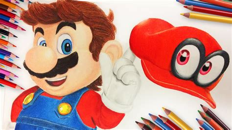 Drawing Mario From Super Mario Odyssey Youtube