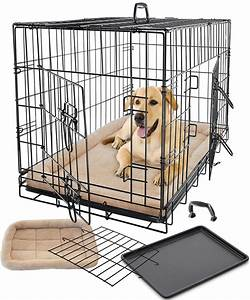 Pet dog cat cage crate kennel and bed cushion warm soft for Soft indoor dog house large