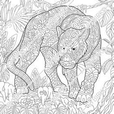 animals  birds panther coloring pages coloring