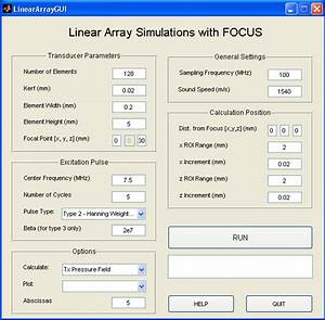 Graphical User Interface for Linear Array Simulations ...