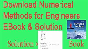Numerical Methods For Engineers Sixth Edition Solution