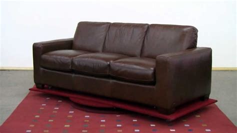 The Rubicon (b534) Queen Leather Sleeper Sofa By Natuzzi
