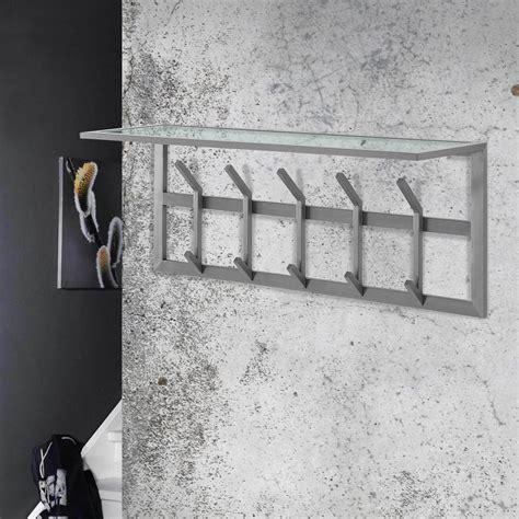 Garderobe Wandgarderobe by Garderobe Wandgarderobe Immo 5 Edelstahl Mit Ablage Aus Glas