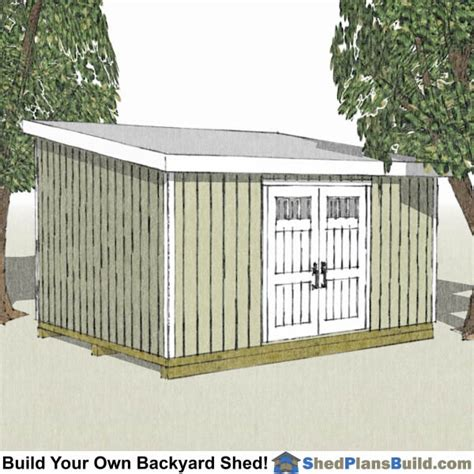 12 X 20 Modern Shed Plans by 12x20 Shed Plans 12x20 Storage Sheds