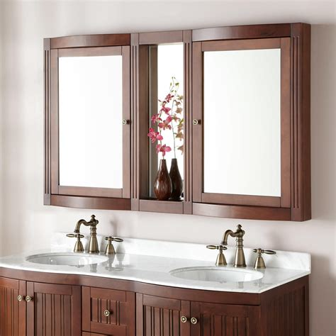 palmetto brown cherry double vanity bathroom