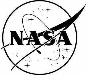 NASA logo black or white vinyl sticker for cars or laptops ...