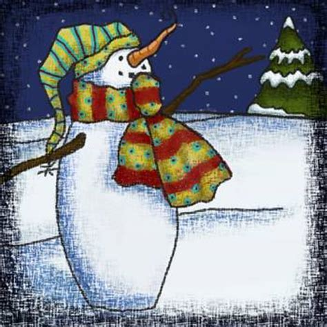 whimsical snowman   jennie baer