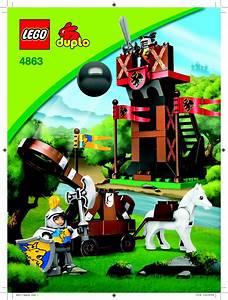 Lego 4863 Sentry  U0026 Catapult Guide D U0026 39 Installation