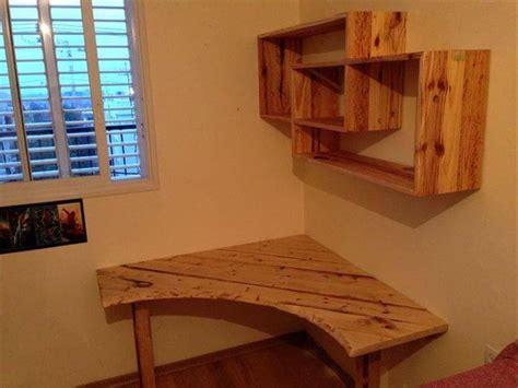 make a desk out of bookshelves diy pallet desk with art style shelves