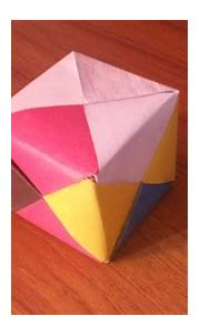 3D origami cube how to make. - YouTube