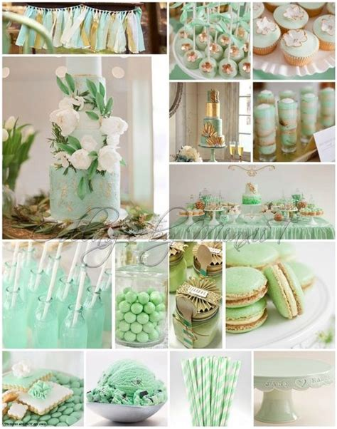 Mint Gold Weddings Engagements Theming Candy Bar