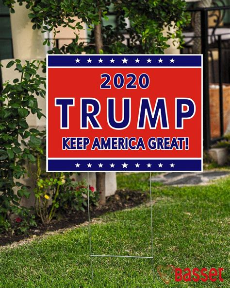 Election 2020 Trump keep American great yard sign
