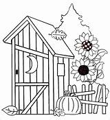 Outhouse Drawings Coloring Drawing Sketch Template sketch template