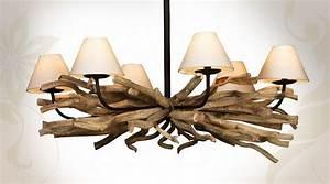 Luminaire En Bois Flotté : luminaire suspension en bois flotte ~ Teatrodelosmanantiales.com Idées de Décoration