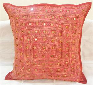 embroidered indian cushion covers toss pillow ethnic sofa With sofa cushion covers india
