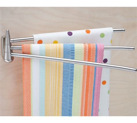 kitchen towel rack stainless steel swing arm kitchen towel rack in kitchen