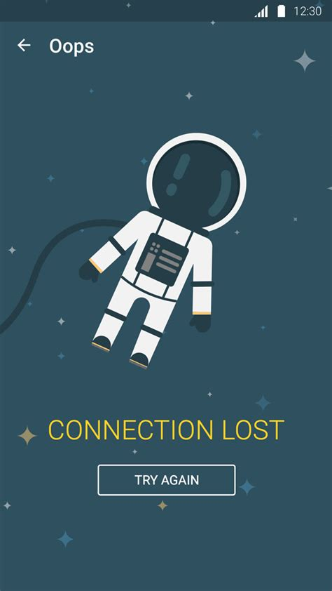 app connection lost screen uplabs
