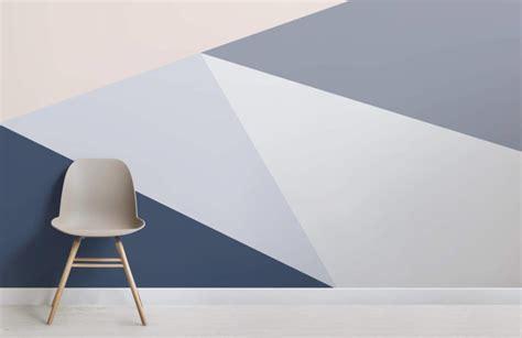 blue oversized geometric wall mural murals wallpaper