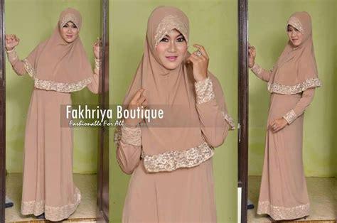gamis rabbani collection aulia by fakhriya coklat baju muslim gamis modern