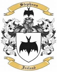 Free Genealogy Family Tree Charts Stephens Family Crest From Ireland By The Tree Maker