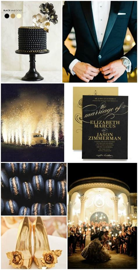 Gold and black luxury wedding inspiration Invite by