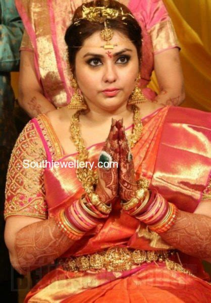 actress namithas wedding jewellery jewellery designs
