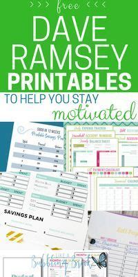 dave ramsey printables    stay motivated