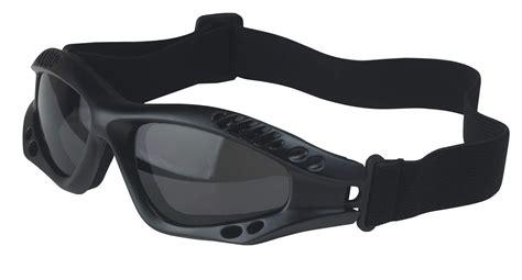 Ventec Military Black Tactical Goggles Grey Shatterproof