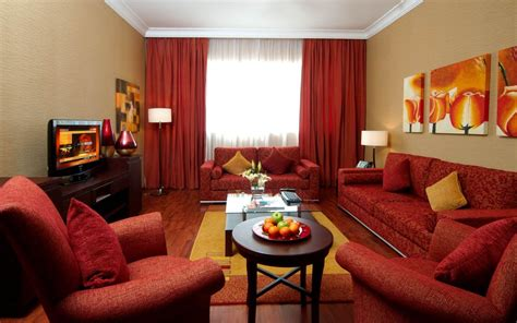 Stunning Decorating Living Room With Red Sofa And